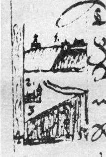 Загальний вигляд Києва. Рис. М.Груневега 1584 р.
